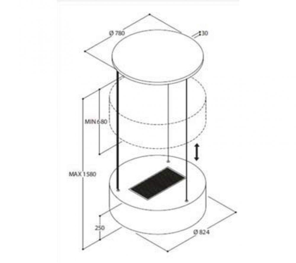 FIM 6281 Fratelli פרטלי קולט אדים אי פילטרים פחם דמוי מנורה